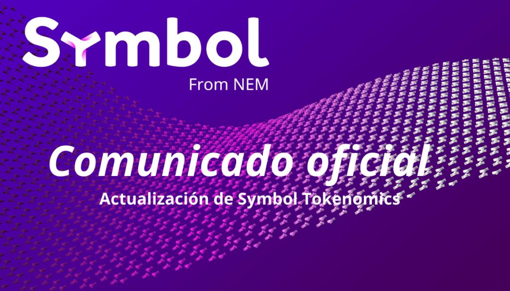 Actualización de Symbol Tokenomics