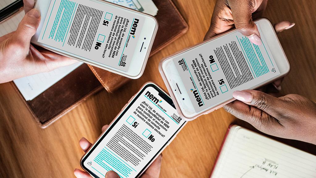 Nanowallet de NEM: Un Centro de Votación en tu Smartphone