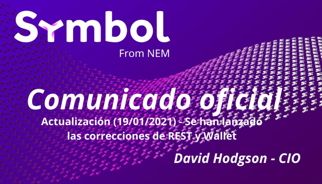 Actualización -19-01-2021- – Se han lanzado las correcciones de REST y Wallet